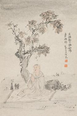 禅林宝相册 纸本水墨 22x34cm 8