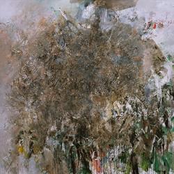 2008年《抽象作品2008'20号》,200cmx200cm,布面油彩,王易罡