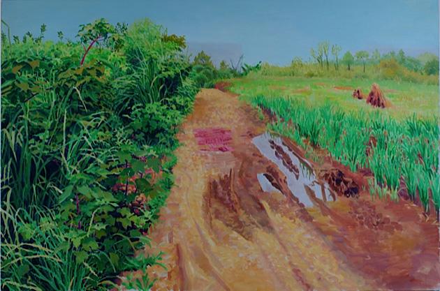 乡间小路 布面油画 100x150cm 2012