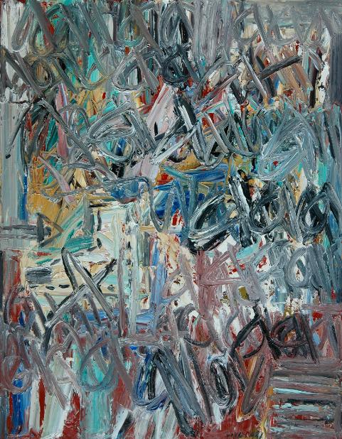 1991年《抽象作品1991'6号》,115.5cmx89