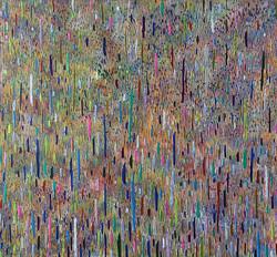 《绘画100—雨》木板丙烯 113x122cm 2018