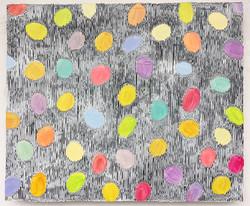 《绘画85—鹅卵石》木板丙烯 50x60cm 2018年