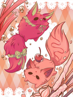 Digital Pet Page: Mitsy and Fitsy