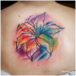 Watercolor Pen Sketch Lotus