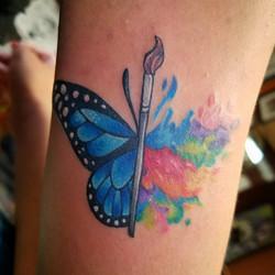 Butterfly Splash Art
