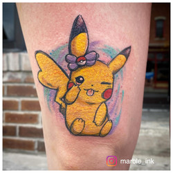 Watercolor Pen Sketch: Pikachu