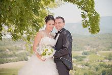 Reportage photo de mariage à Entrechaux, dans le Vaucluse (PACA).