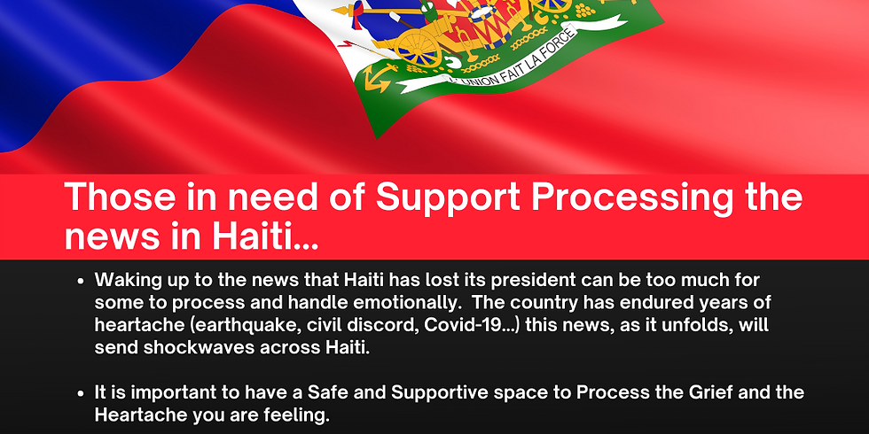 Support Group for Haitians