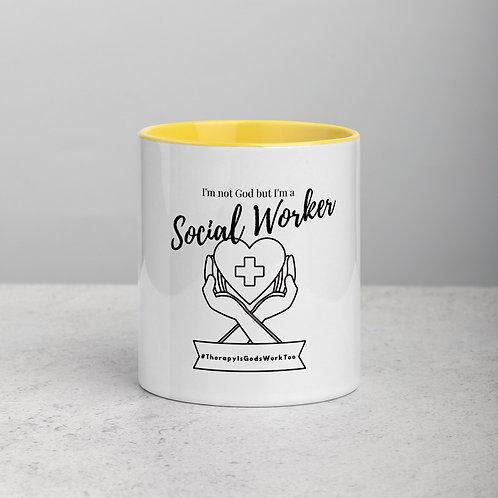 I'm a Social Worker Mug with Color Inside