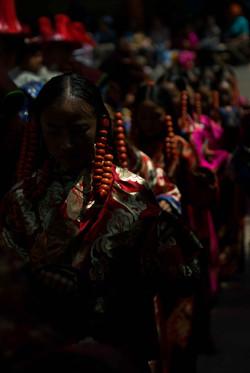 Tibetan Girls in Ceremony