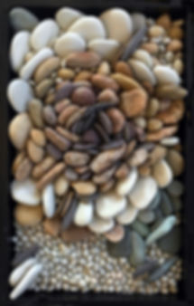Autumn pebble mosaic