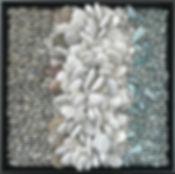 Sea Foam pebble mosaic