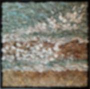 "24""X24"" pebble mosaic framed"