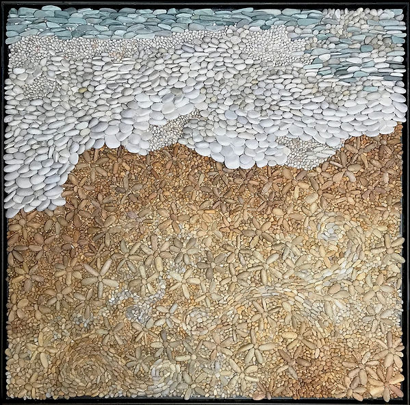 Summertime pebble mosaic