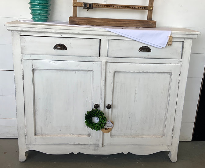 Hall table antique white