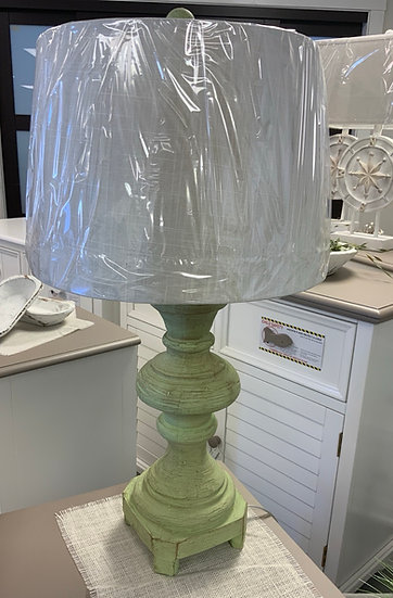 Distressed Green lamp