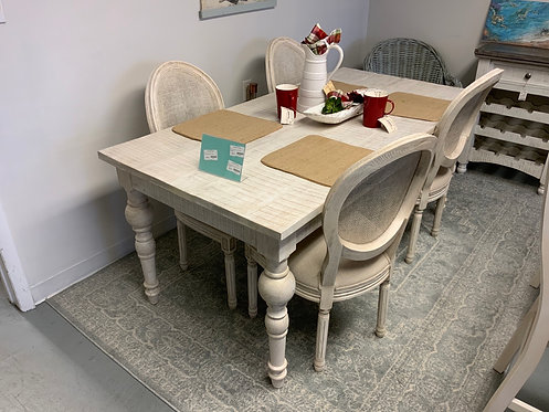 White washed Farm Table 63157