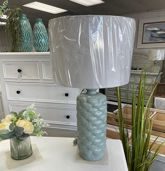 Bedok blue table lamp