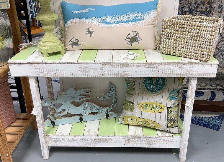 Slat Top Sofa Table