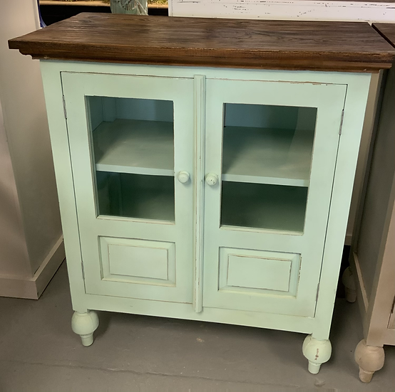 French bookcase blue