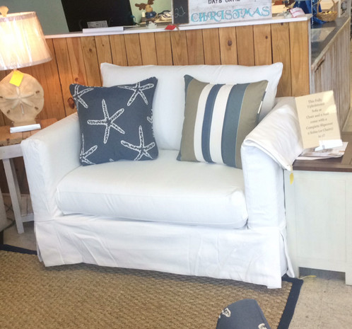 Slipcover Chair And A Half Grande Linen