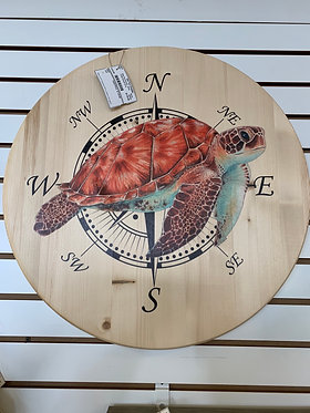 Large Round Turtle Plaque