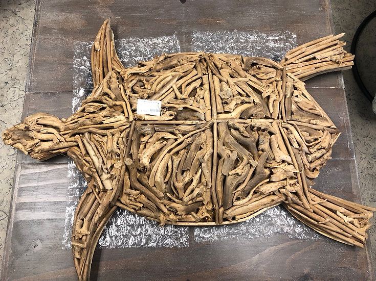 Driftwood Turtle Wall Art