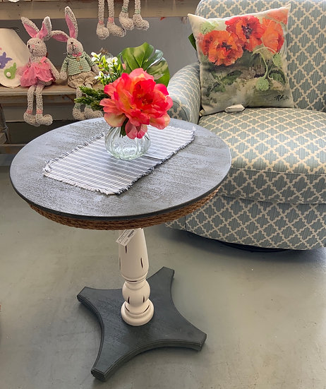 Sea isle two tone accent table