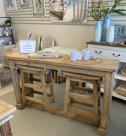Counter table w/2 stools