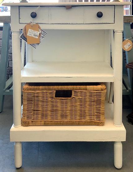 Storage cabinet w/rattan