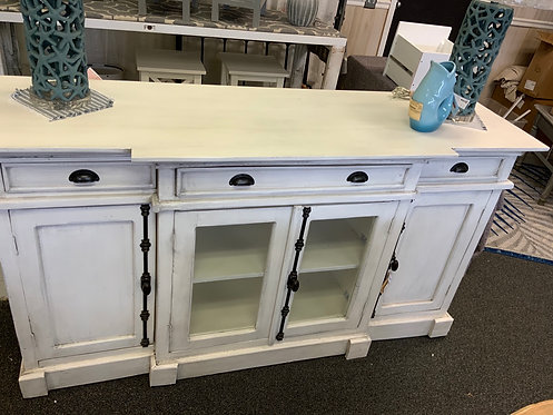 Console w/3 Drawers 4 Doors 63679
