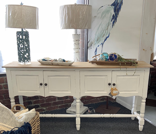 Console table with turned legs