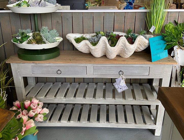 Slat shelf console