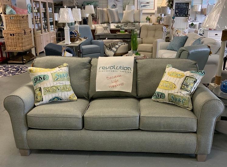 Annabel roll arm sofa