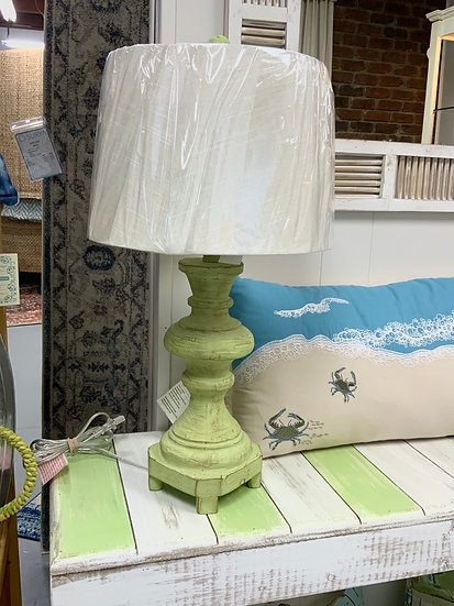 Distressed Green Lamp 63396