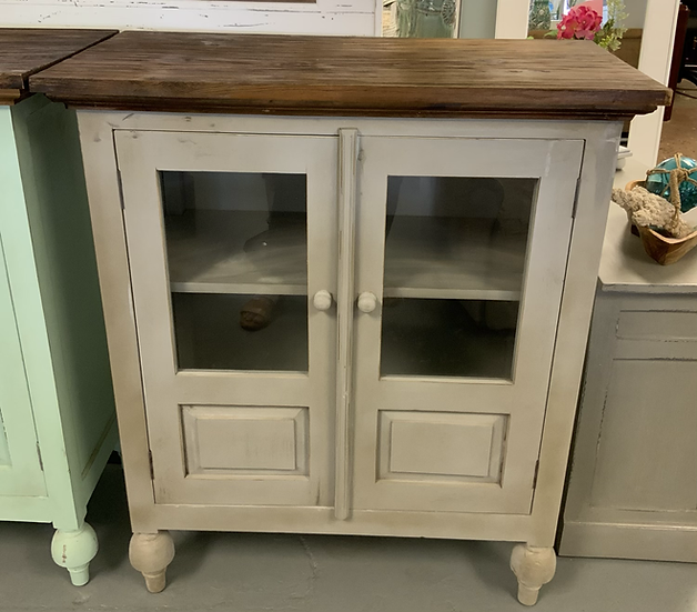 French bookcase gray