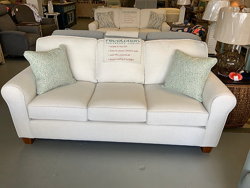 Annabel Sofa Rolled Arm -Simply White