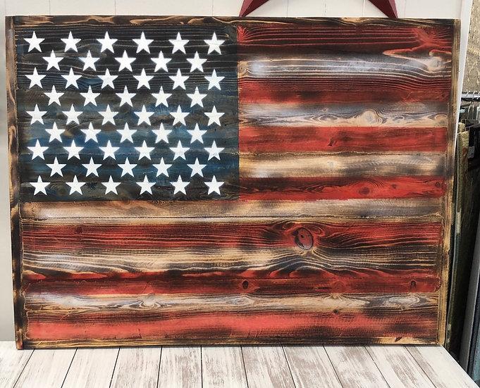 Rustic Wooden Flag Art