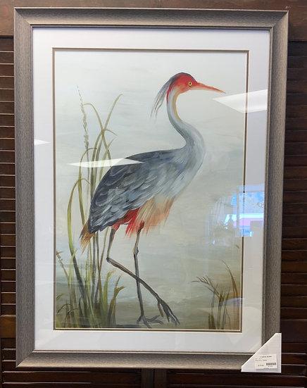 Gray Heron Framed