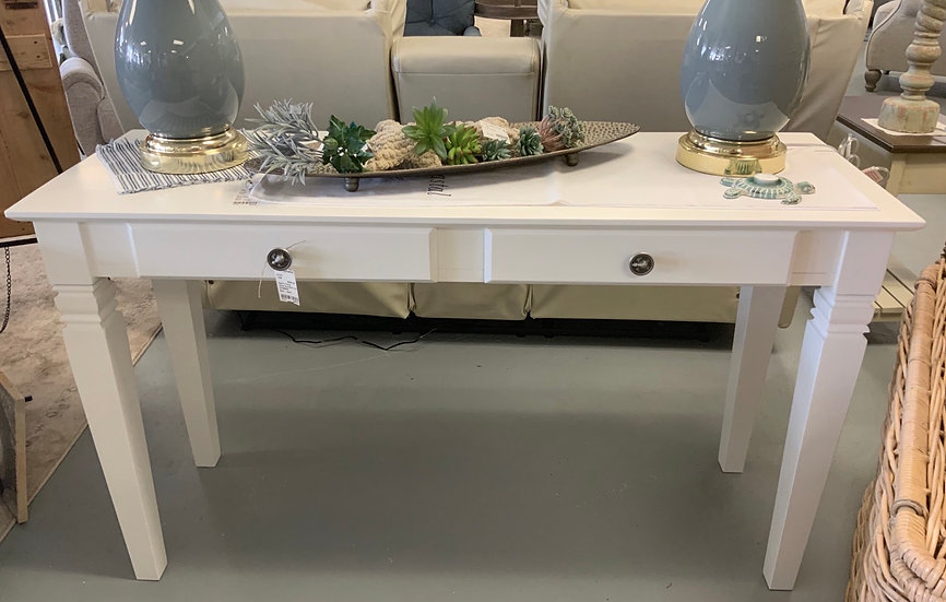 White java sofa table