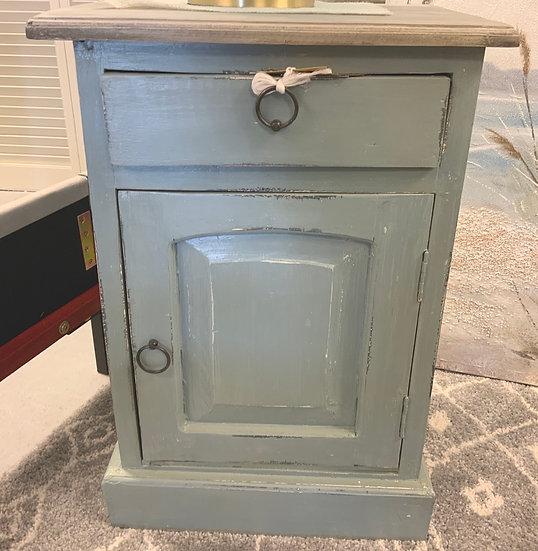 Sm. One door cabinet blue