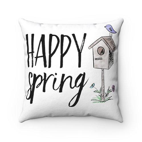 Farmhouse pillow cover, birdhouse cover, farmhouse pillow