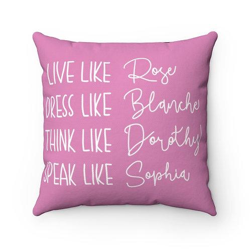 Golden GIRLS, Pillow cover, Golden Girls Names,Golden Girl Gift decor
