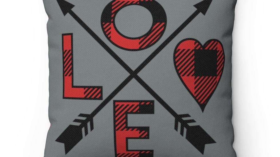 Love, Valentine Decor, Farmhouse Decor, Buffalo Plaid Pillow Cover