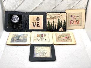 How to make DIY refrigerator magnets out of Dollar Store Calendars - Cute holiday gift idea