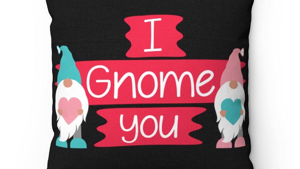 I Gnome You, Valentine Decor,Farmhouse Decor, Buffalo Plaid decor Pillow Cover