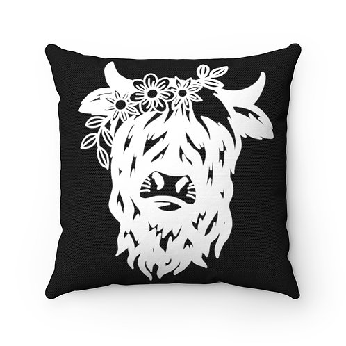 Highland cow cover, Cow Pillow Cover, Bovine cover, Barn Pillow cover