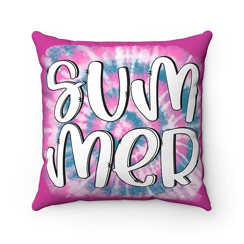 Hello Summer, summer Vibes, Throw Pillow cover, home Decor, tie dye