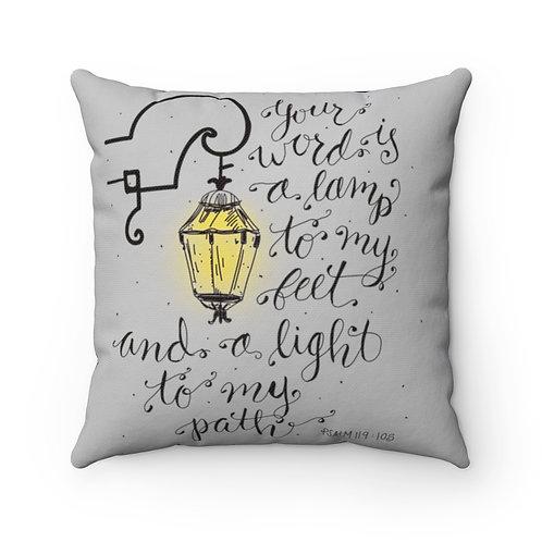 Psalm 119, Lamp Pillow cover, Bible Verse Pillow, Modern Farmhouse