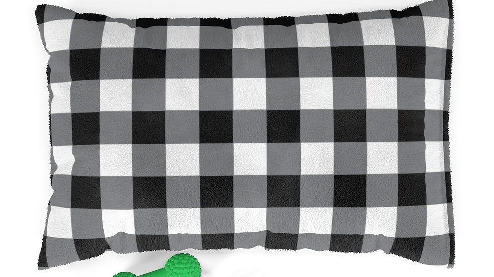 Farmhouse Dog Bed, buffalo plaid Pet Bed, Pillow bed